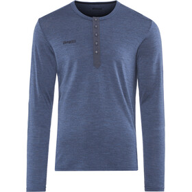 Bergans Henley Wool Shirt Men navy melange
